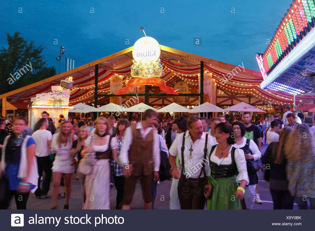 Kiliani-Volksfest festival, Wuerzburg, Lower Franconia, Franconia, Bavaria, Germany, Europe, PublicGround - Stock Image