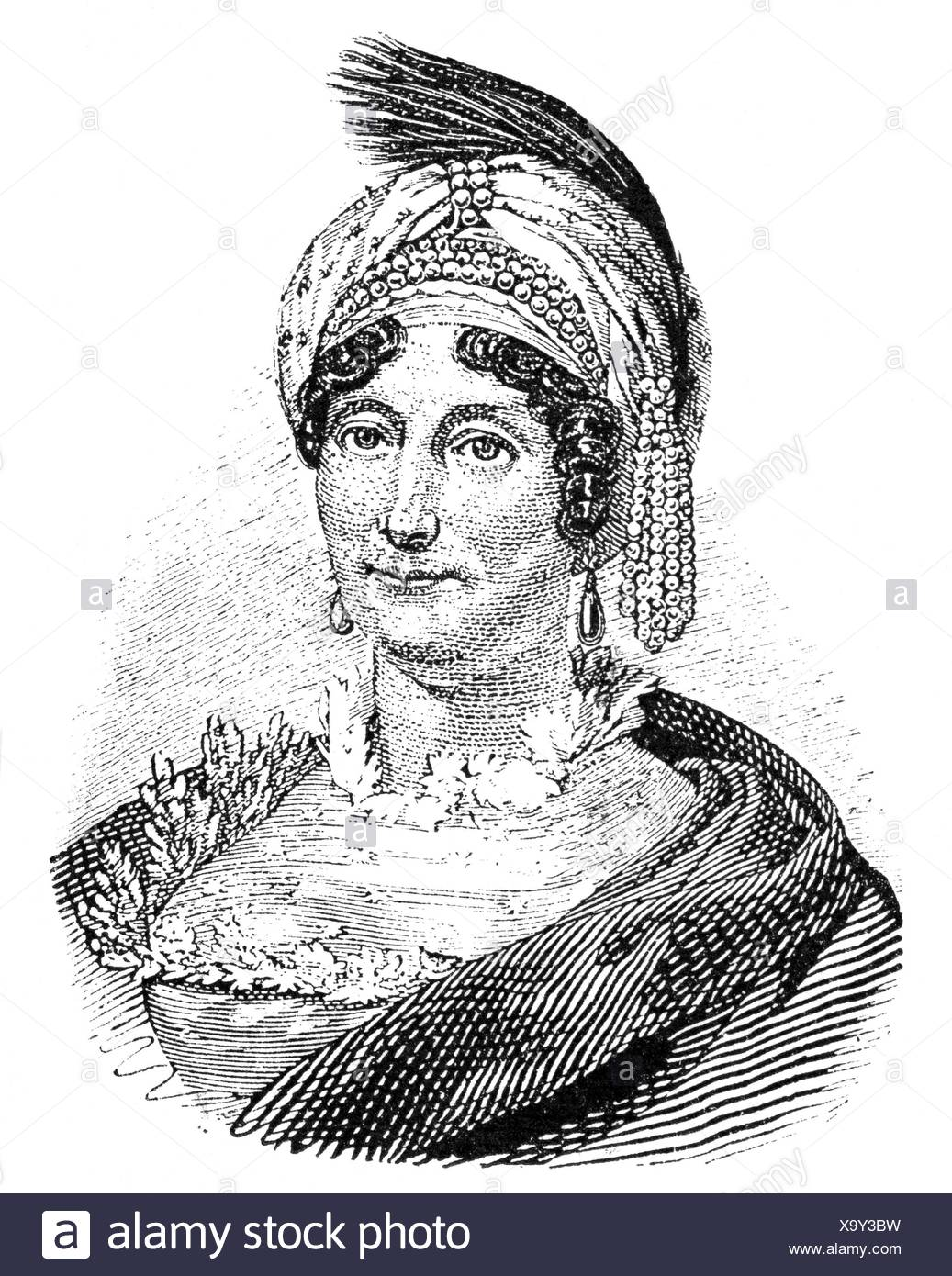 Buonaparte, Laetizia, 24.8.1750 - 2.5.1836, Corsican noblewoman, portrait, wood engraving, 19th century, , Stock Photo