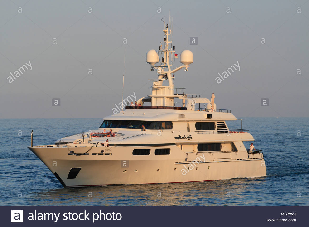 Lady Ann Magee, a cruiser built by Codecasa, length: 49.90 meters, built in 2001, Monaco, French Riviera, Mediterranean Sea - Stock Image