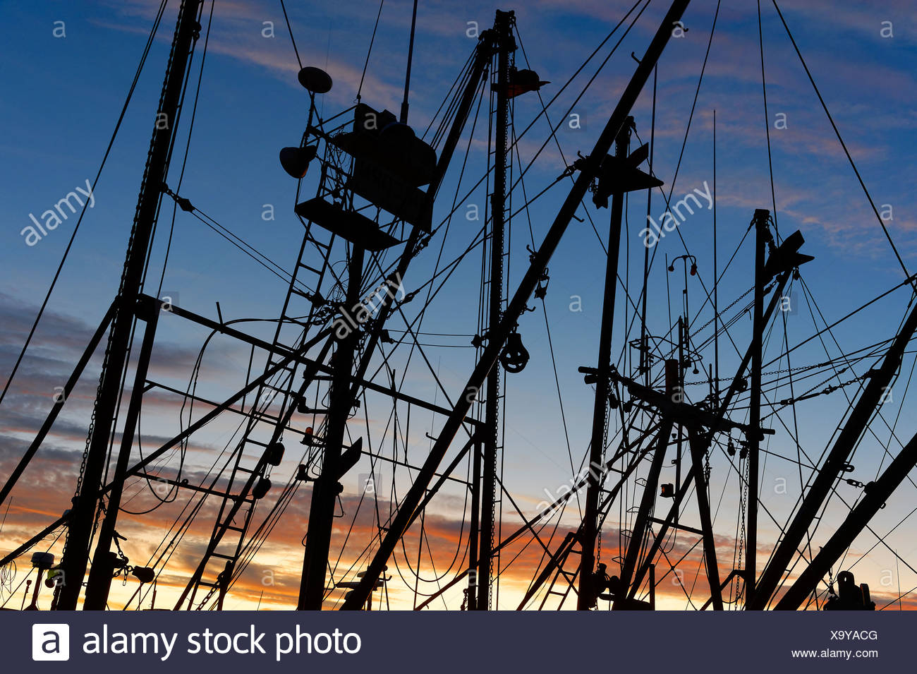 Commercial fishing boat. - Stock Image