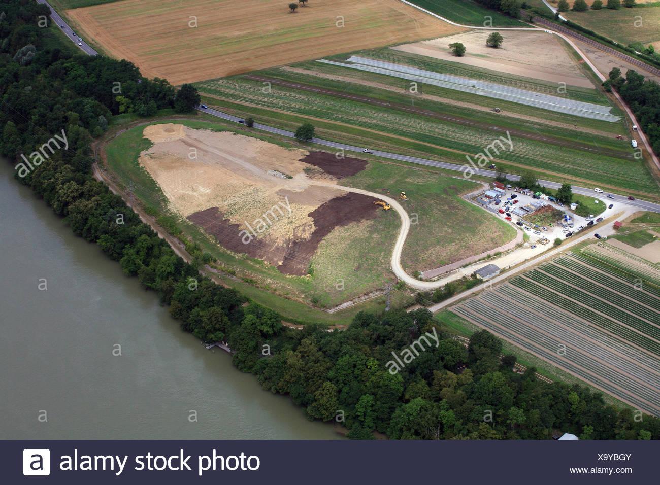 Sanitary landfill in Rheinfelden - Stock Image