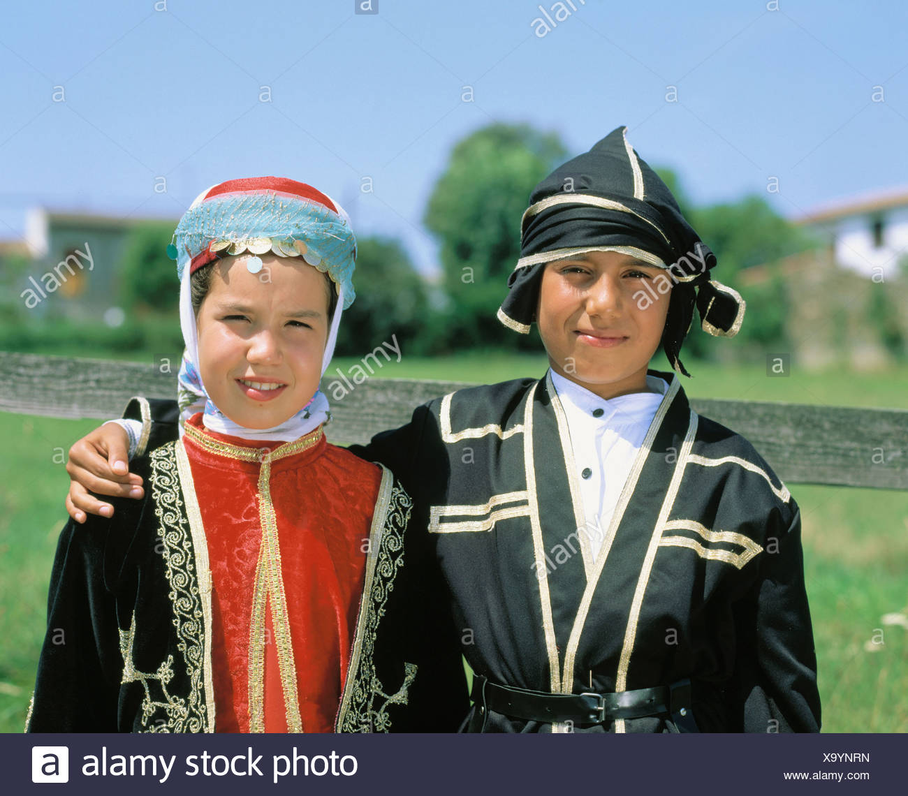 admission intake Jung Catalonia children girls music festival Cantonigros no model release portrait Spain - Stock Image