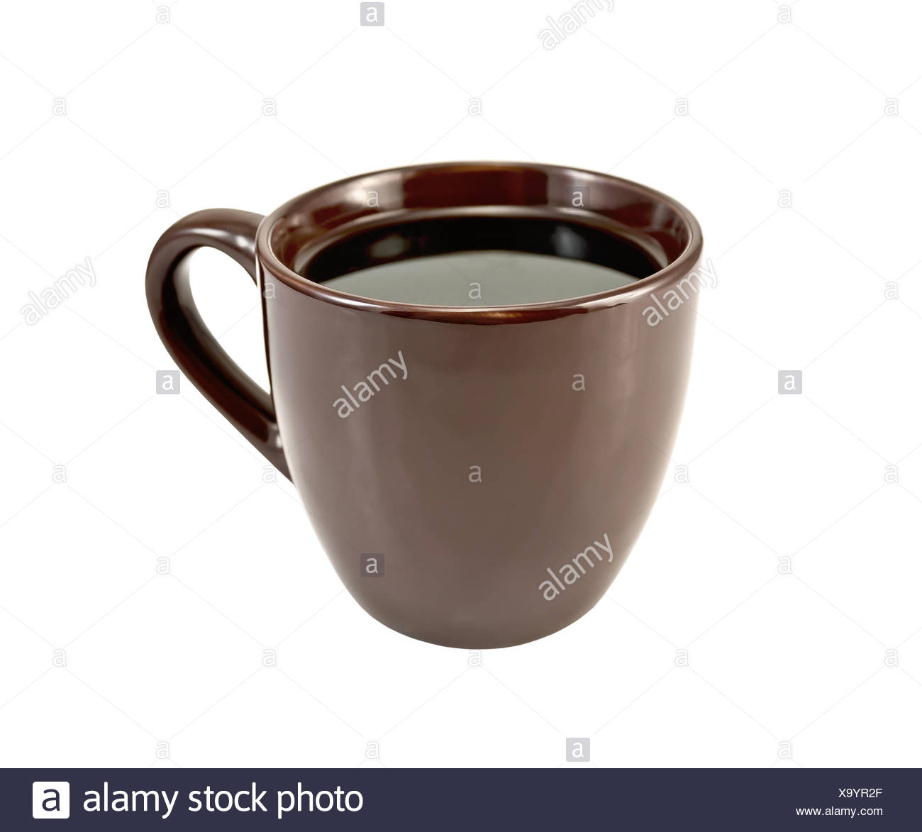 Coffee in brown cup Stock Photo
