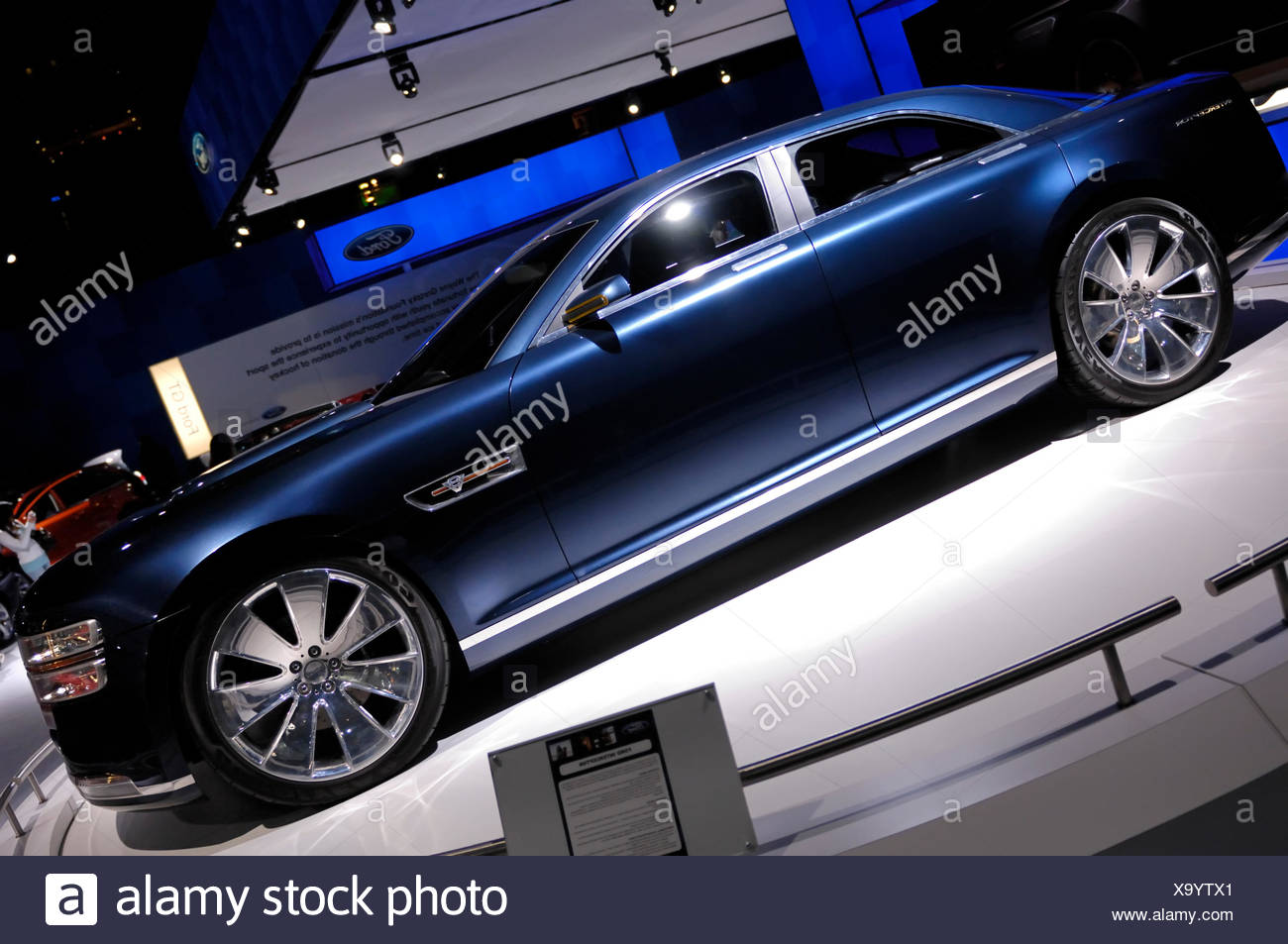 Ford Interceptor concept car retro-styled sedan, Toronto Auto Show 2008 - Stock Image