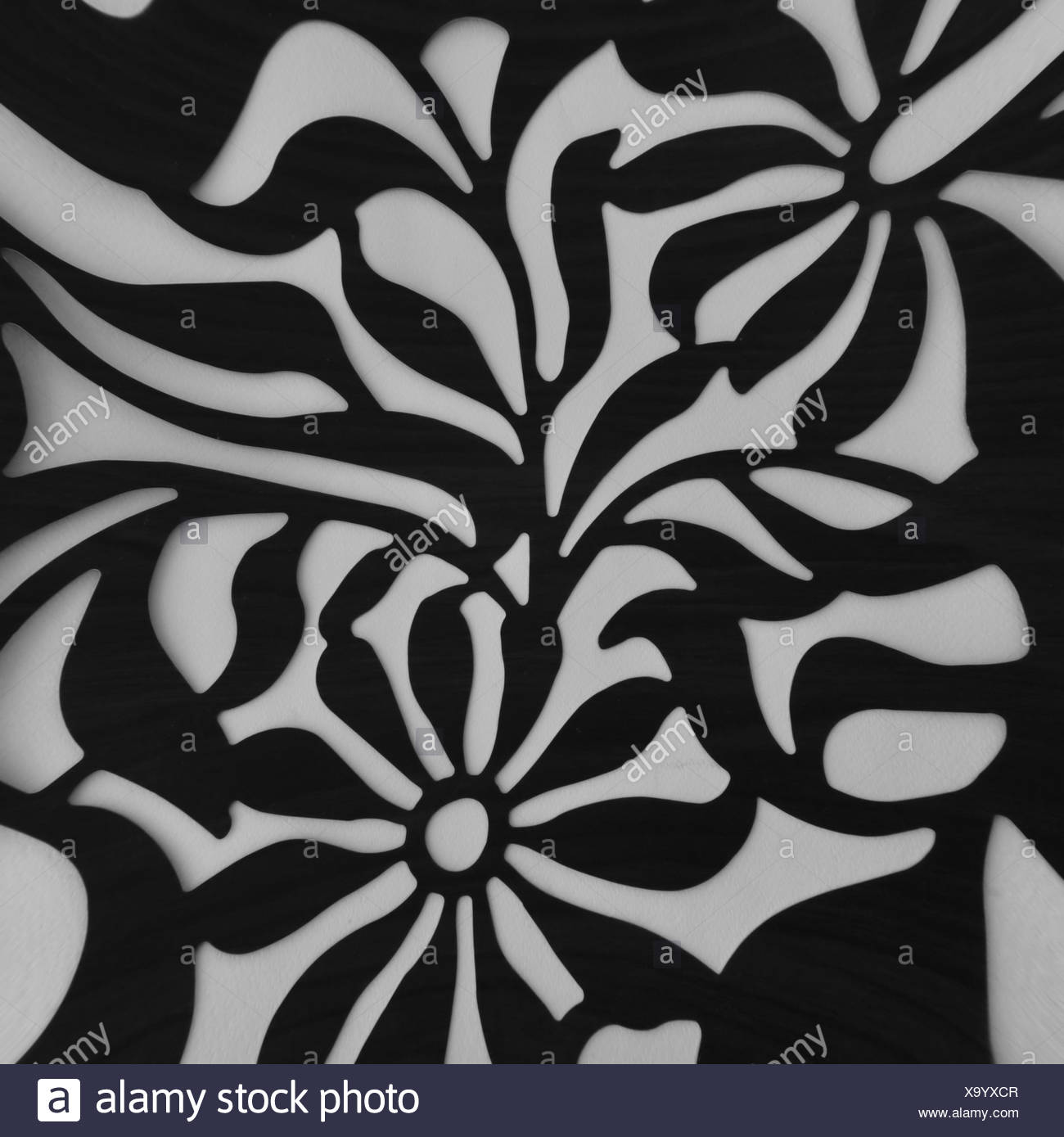 Leaf Motif Black And White Stock Photos Images Alamy