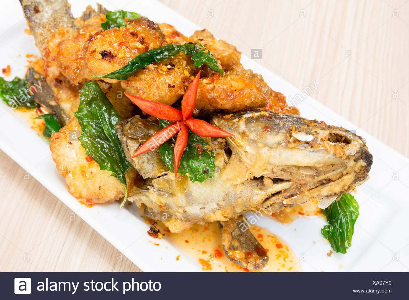 Deep Fried Grouper High Resolution Stock Photography And Images Alamy