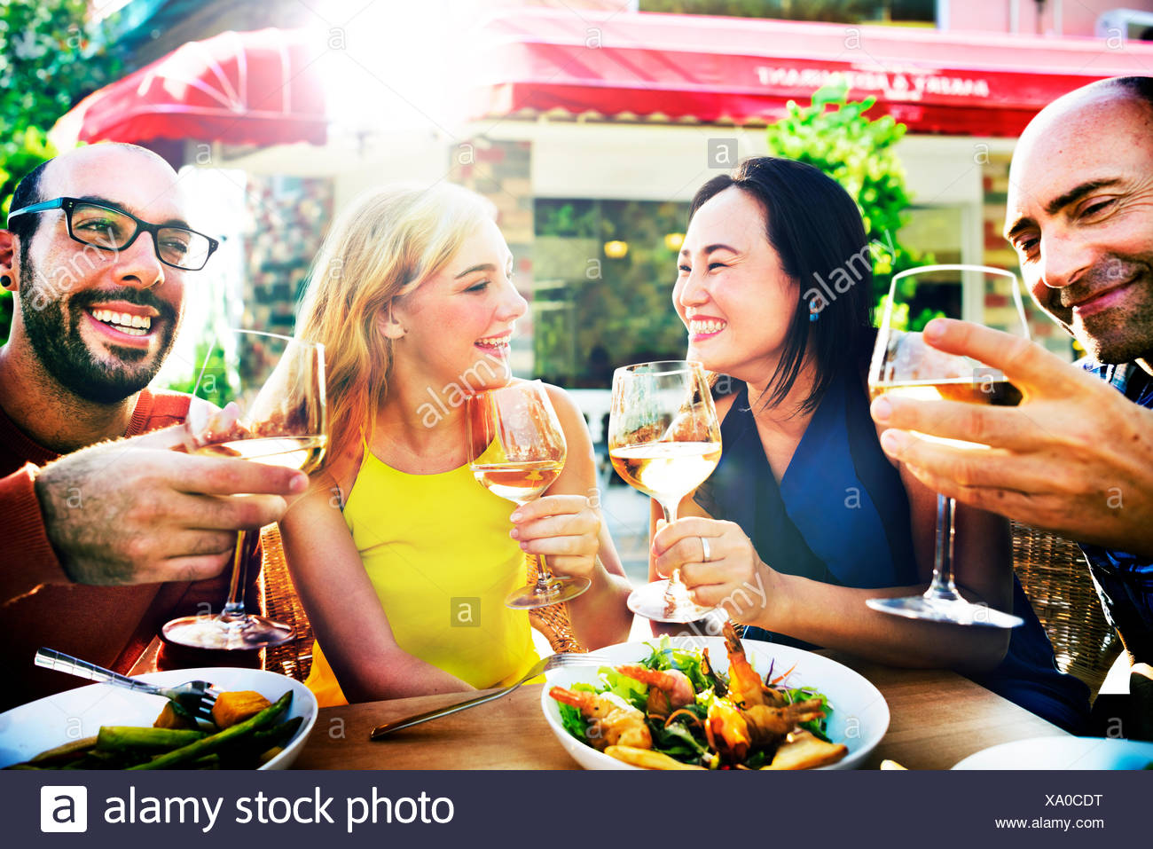 Friend Friendship Dining Celebration Hanging out Concept - Stock Image