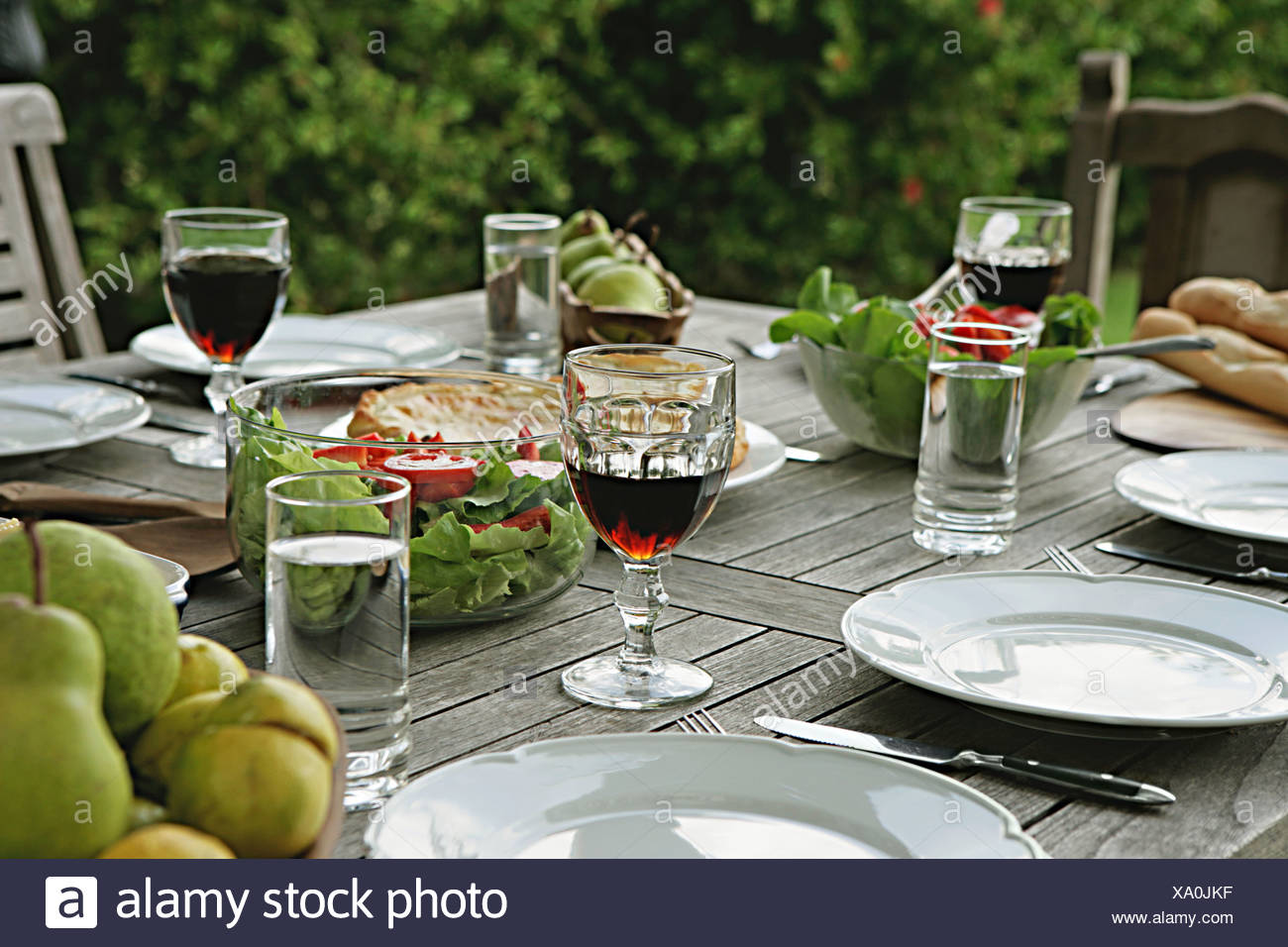 Al fresco dining - Stock Image