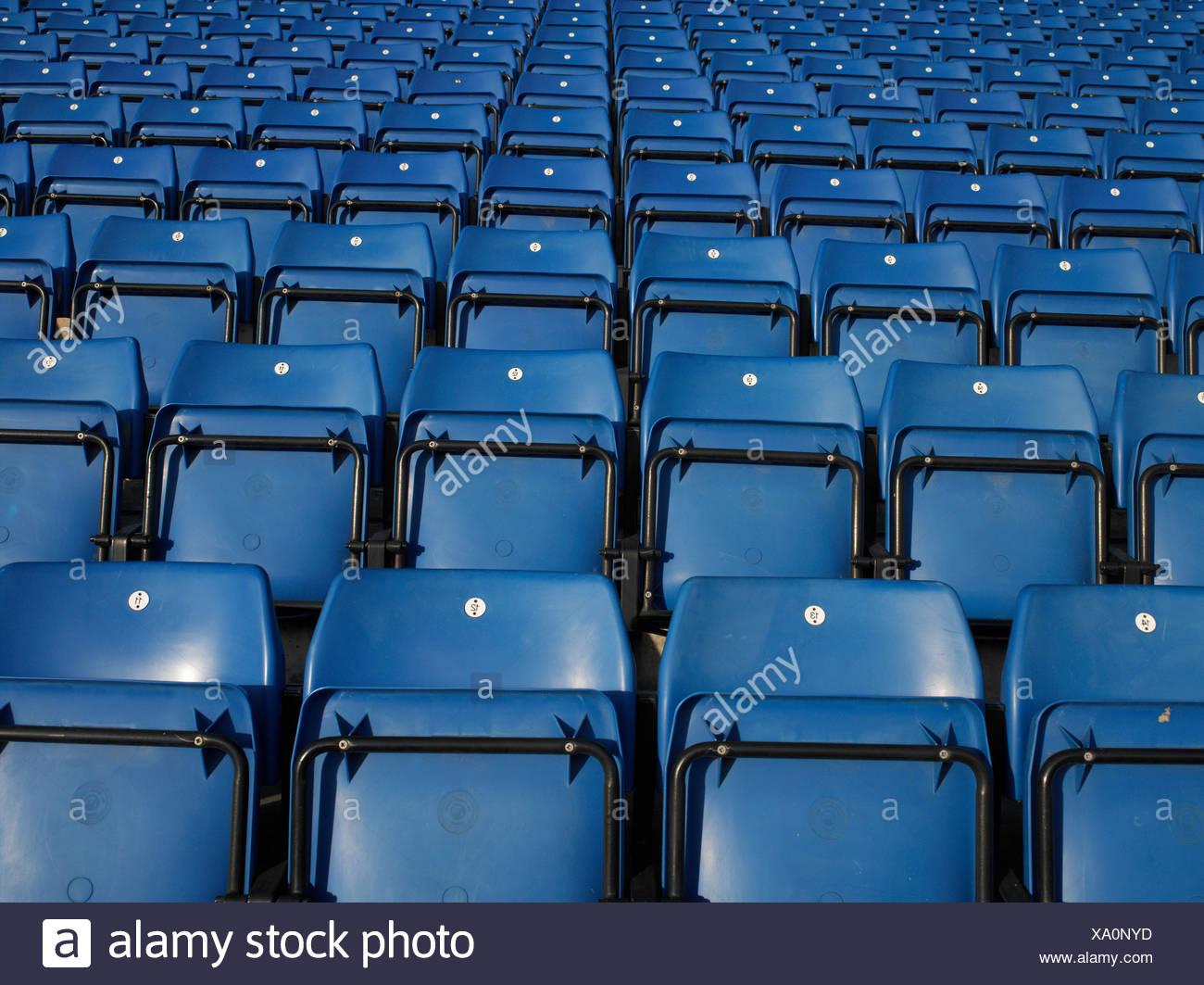 Empty stadium seating - Stock Image