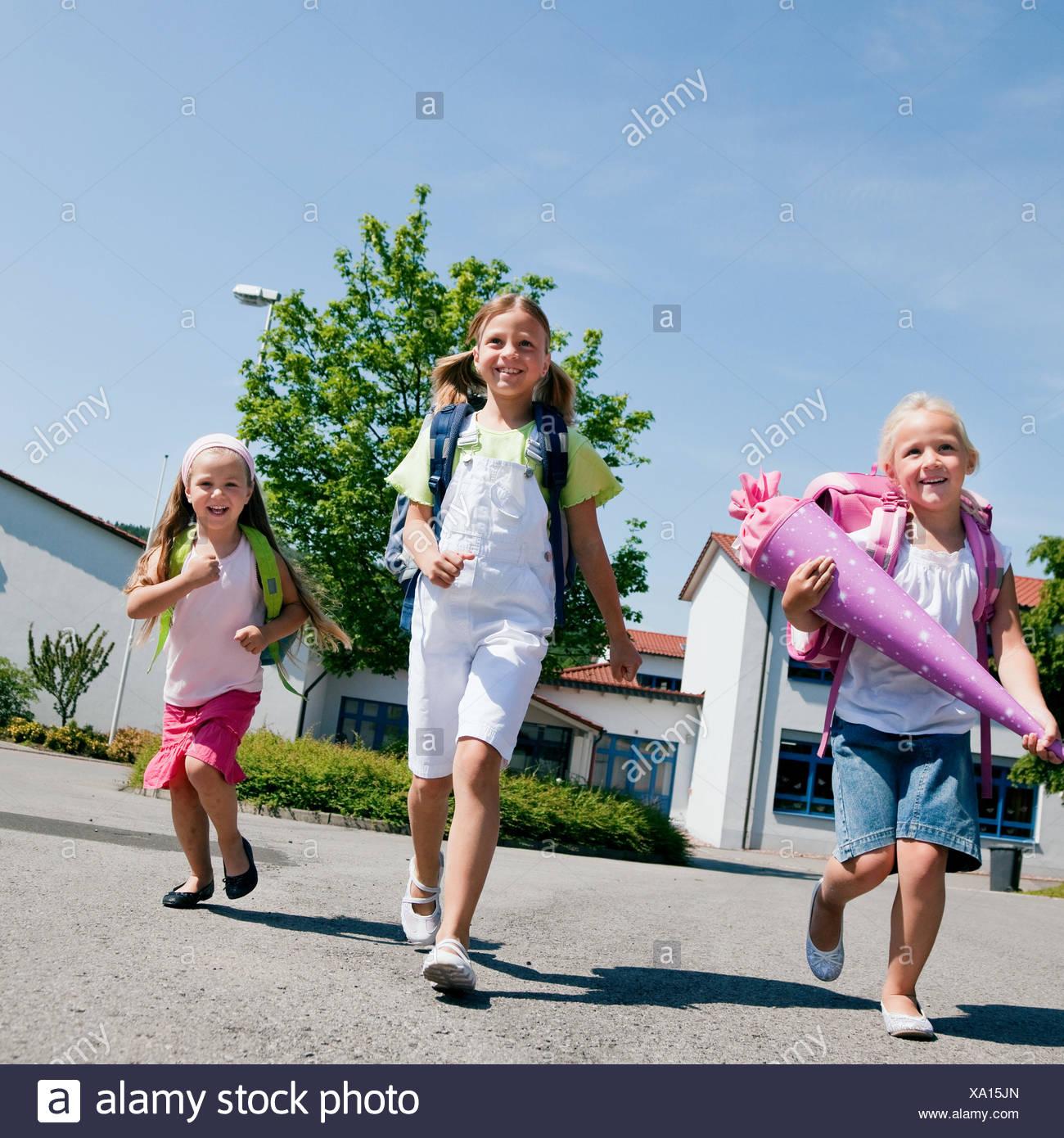 schoolchildren schoolchild enrollment - Stock Image
