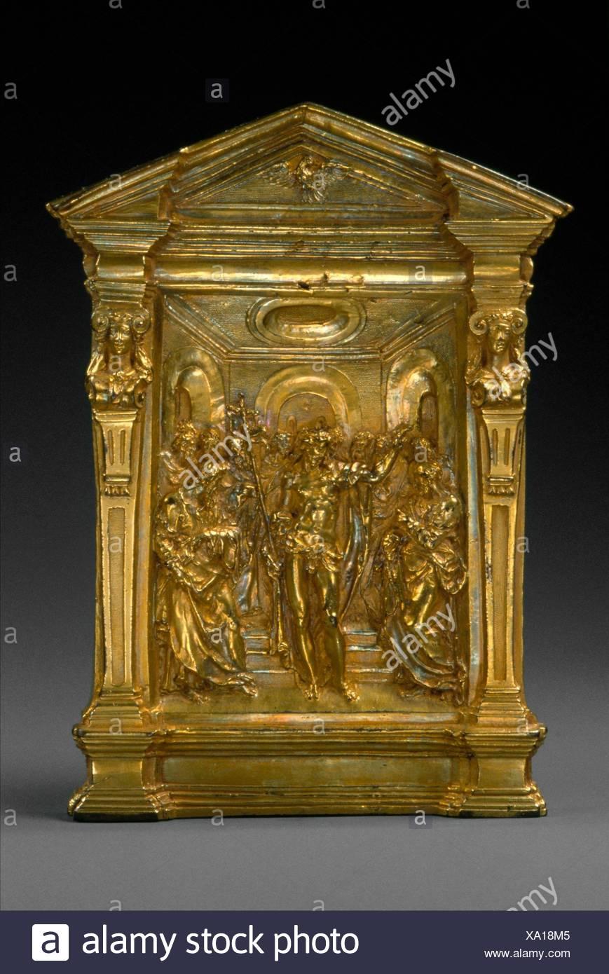 Pax with the Risen Christ Appearing to the Apostles. Artist: Probably by Guglielmo della Porta (Italian, Porlezza, near Lake Lugano ca. 1500-1577 - Stock Image