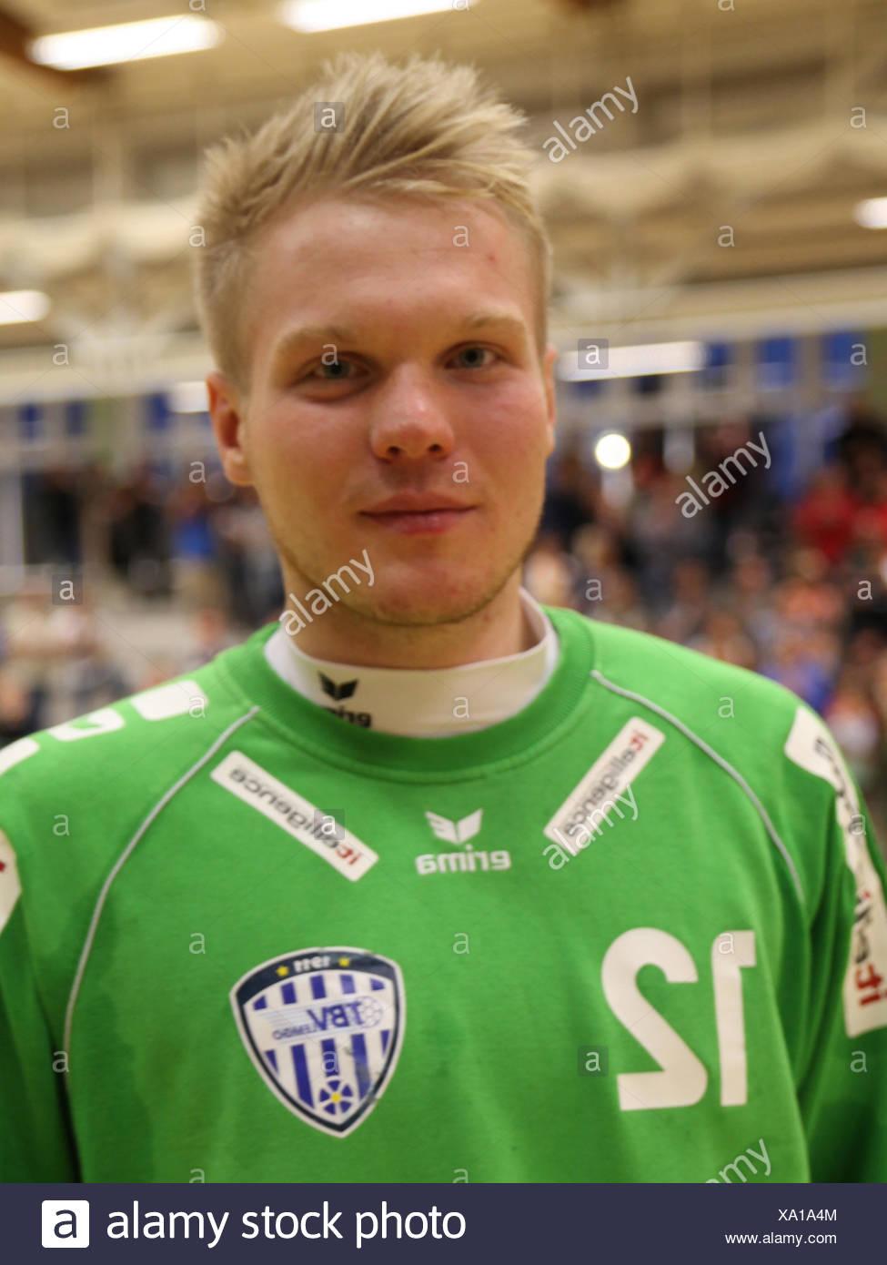 Goalkeeper Nils Dresrüsse (TBV Lemgo) - Stock Image