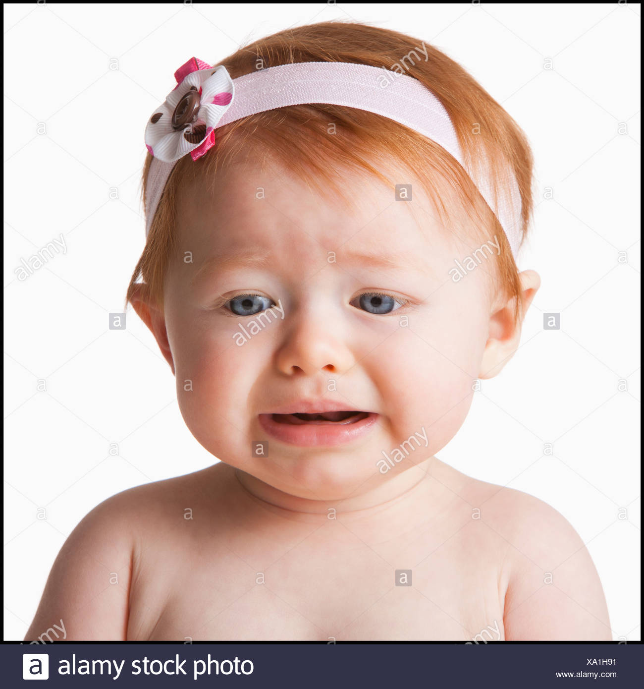 Girl Short Hair Crying Stock Photos Girl Short Hair Crying Stock