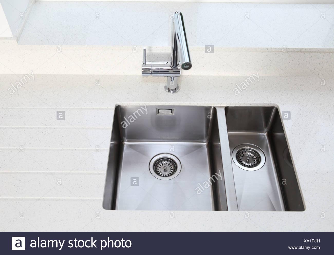 Kitchen sink - Stock Image