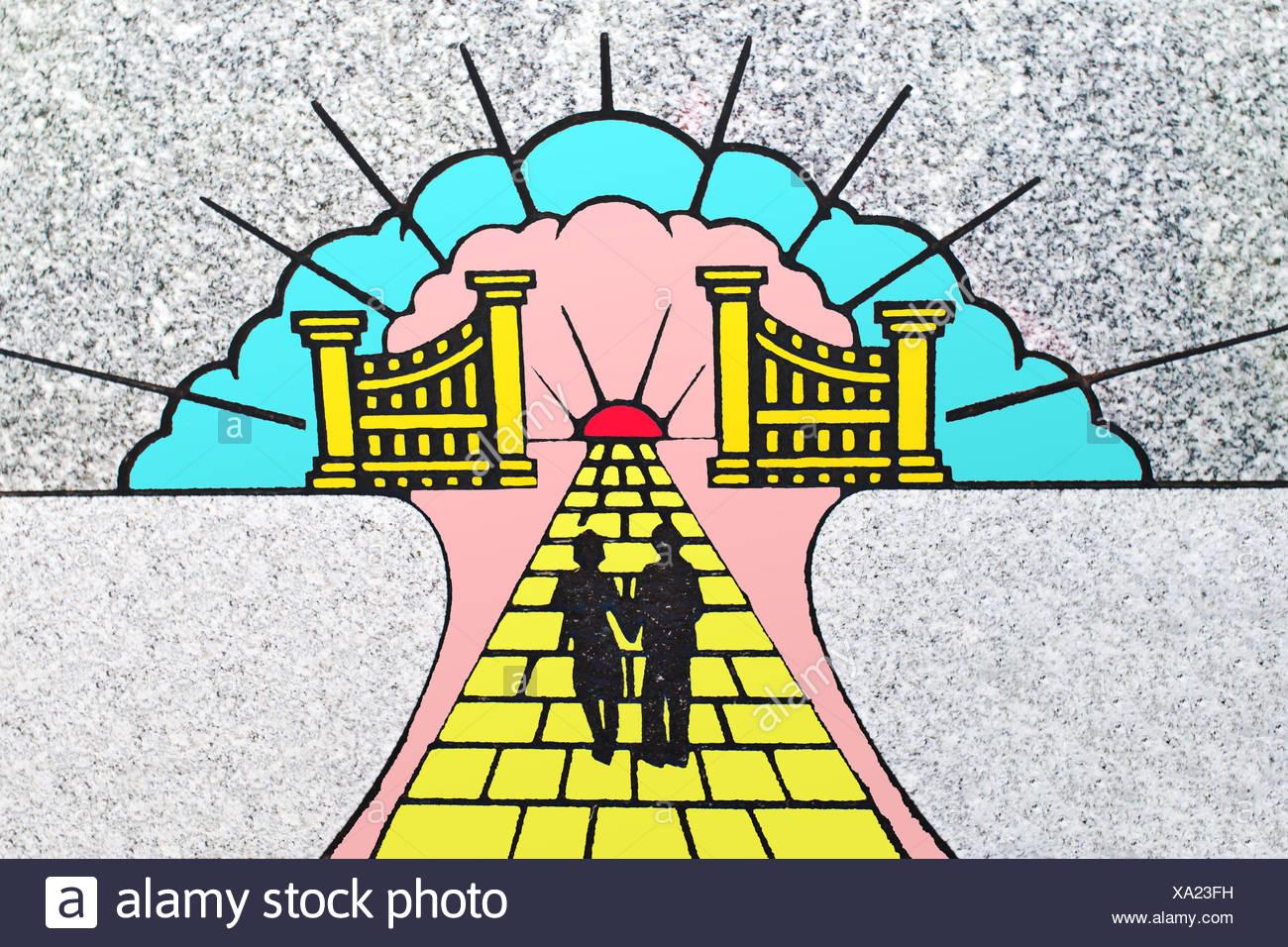 Heavenly scene - Stock Image