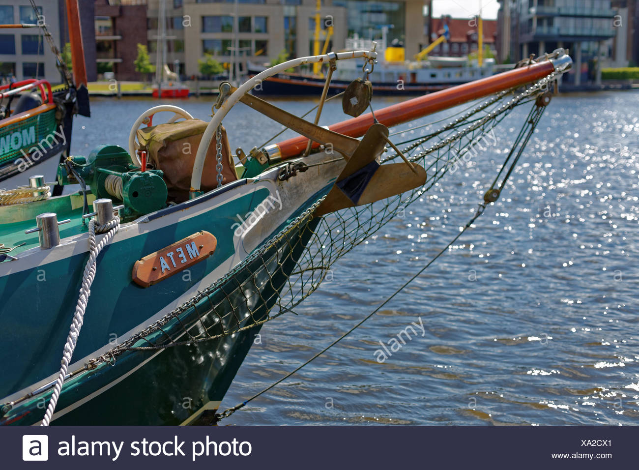 The Meta in the port of Emden - Stock Image