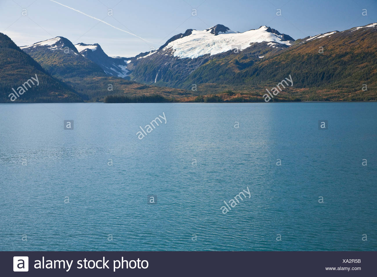 Cap glacier Chugach Mountiains in Prince William Sound, Chugach National Forest. Southcentral, Alaska - Stock Image