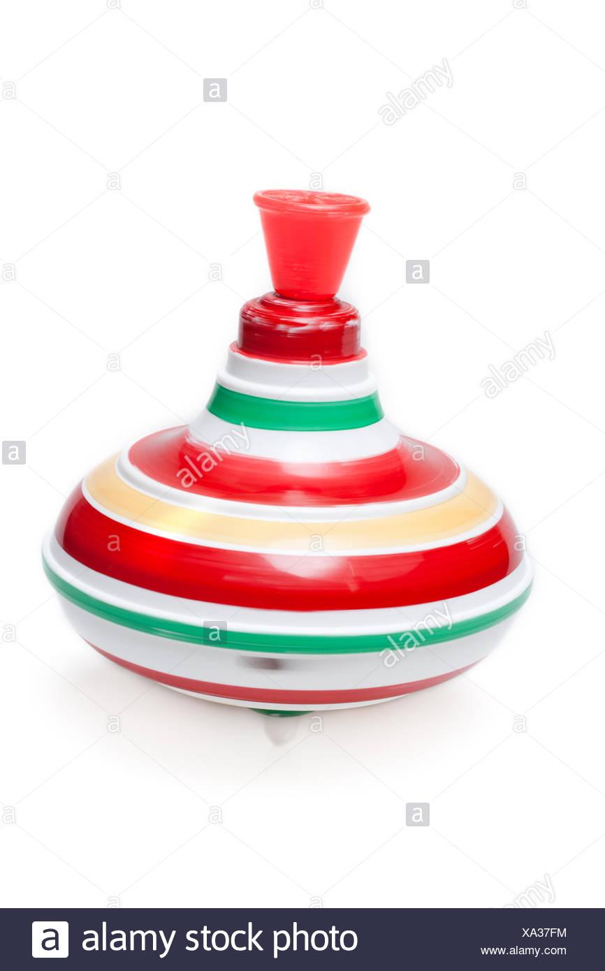 Plastic whirligig spins - Stock Image