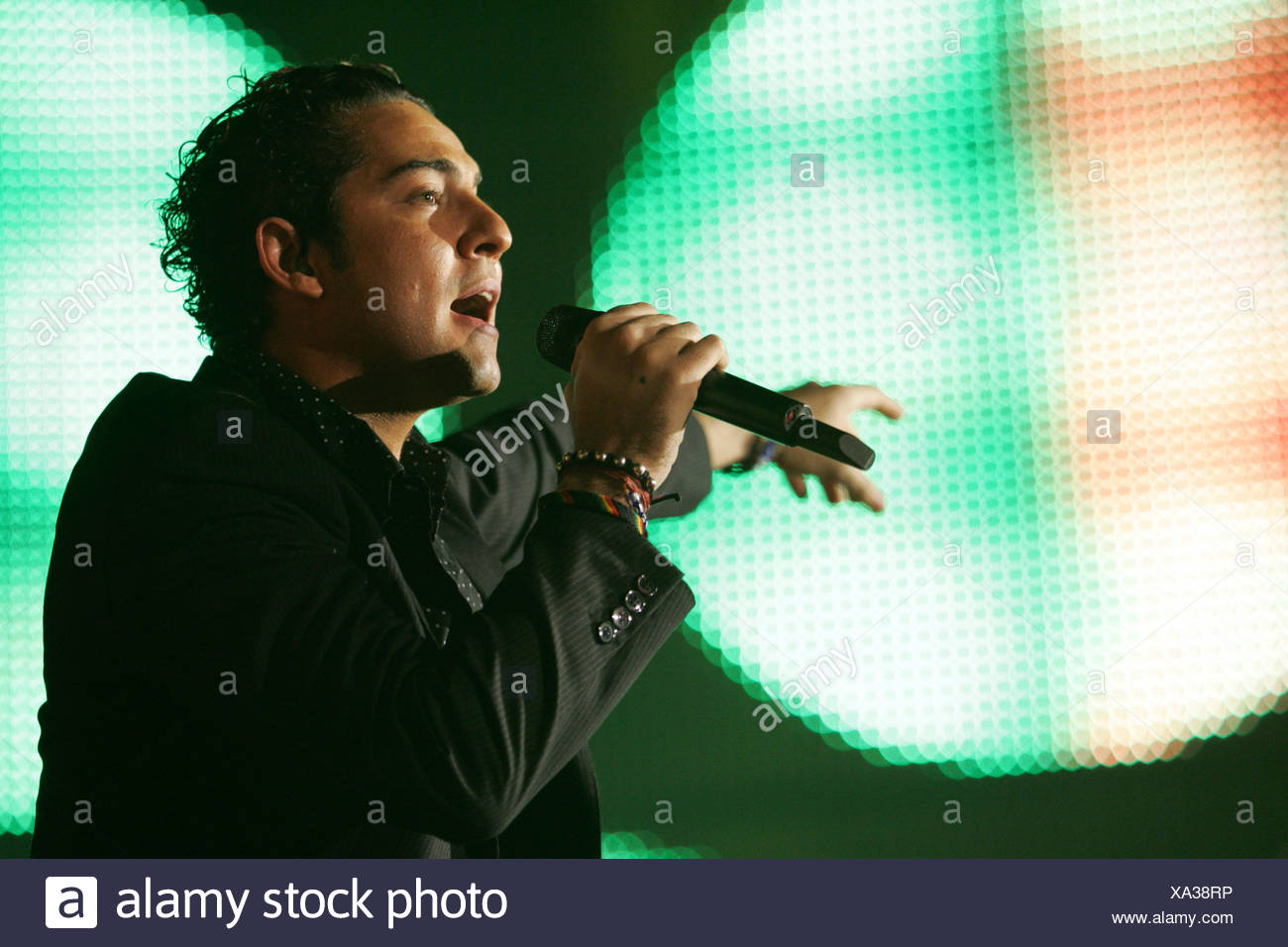 Spanish singer David Bisbal performing live at Energy Stars For Free at Hallenstadion Zurich, Switzerland - Stock Image