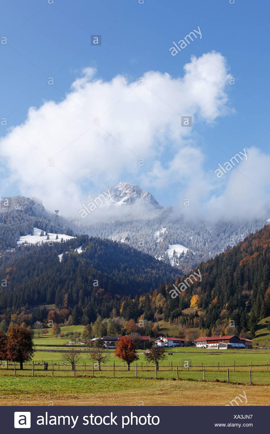 Mt Wendelstein, Dorf quarter of Bayrischzell, Mangfall mountains, Upper Bavaria, Bavaria, Germany, Europe, PublicGround - Stock Image
