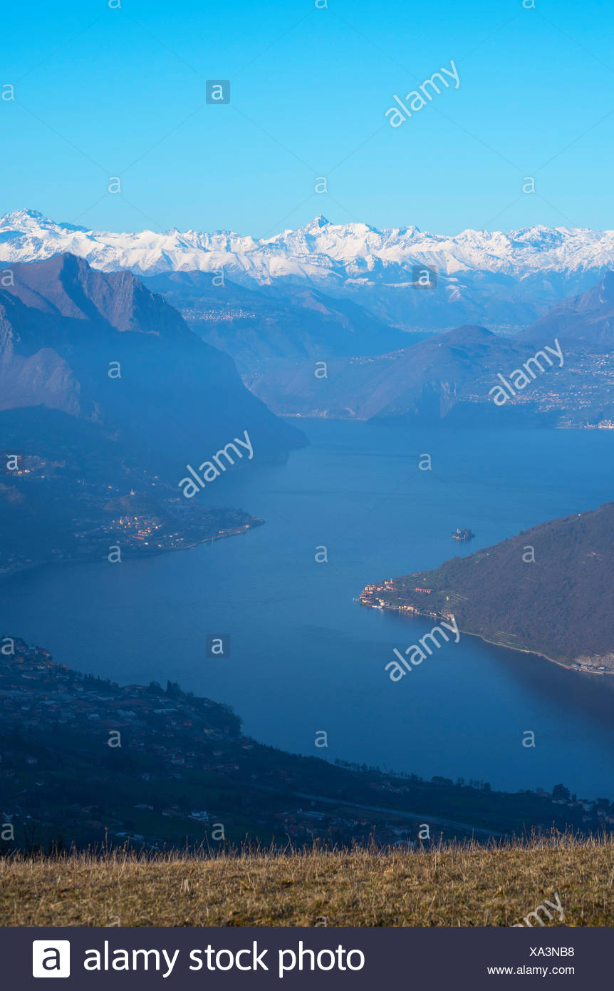 Iseo lake, province of Brescia, Italy. - Stock Image
