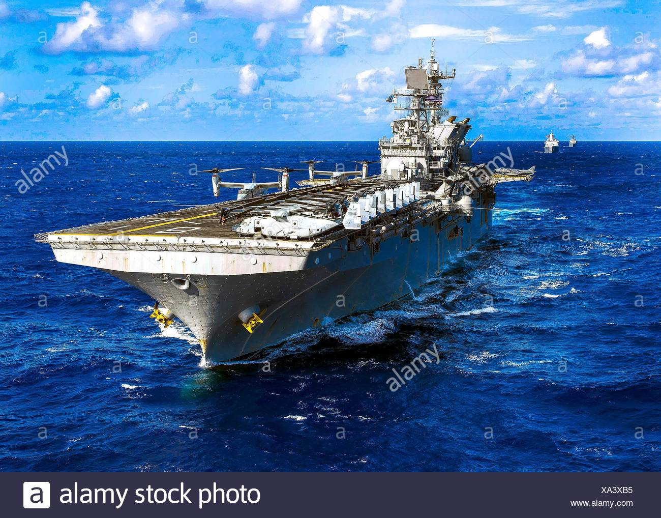 PACIFIC OCEAN (Oct. 25, 2016) The Makin Island Amphibious Ready Group (ARG) underway in the western Pacific Ocean. The Makin Island ARG is comprised - Stock Image