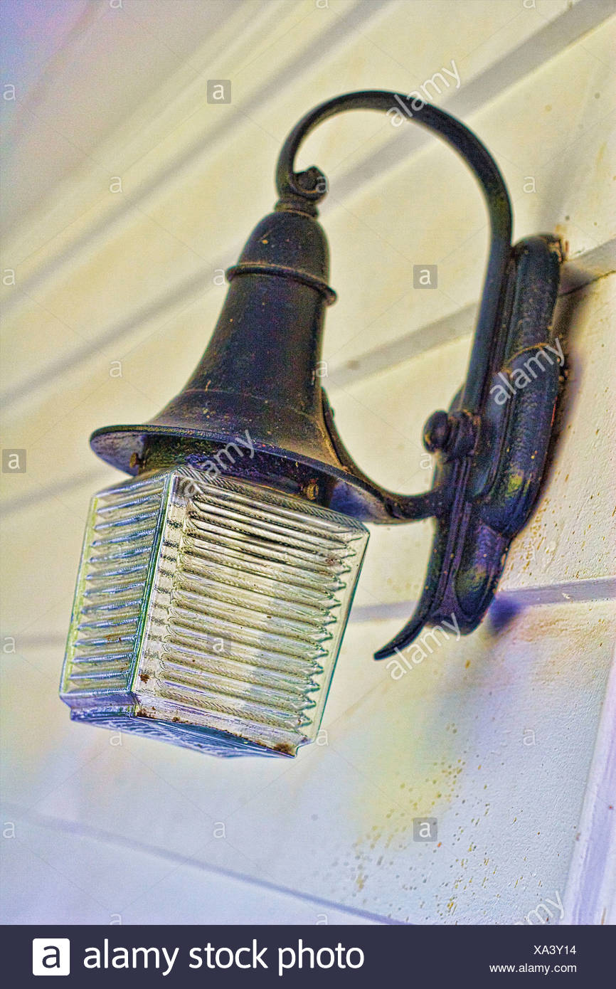 Antiqued light fixture - Stock Image