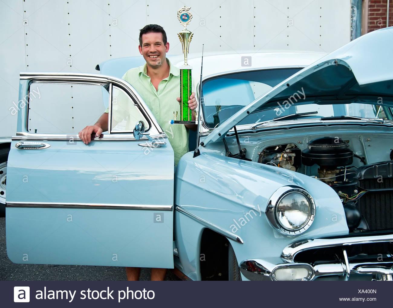 Classic car show winner. - Stock Image