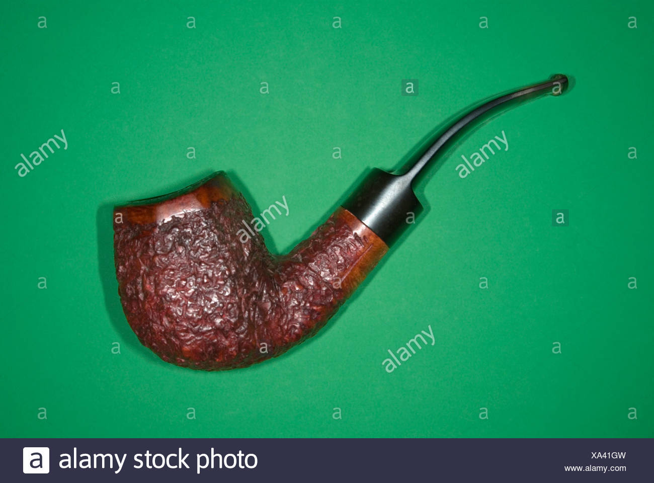 Tobacco Pipe, elevated view - Stock Image