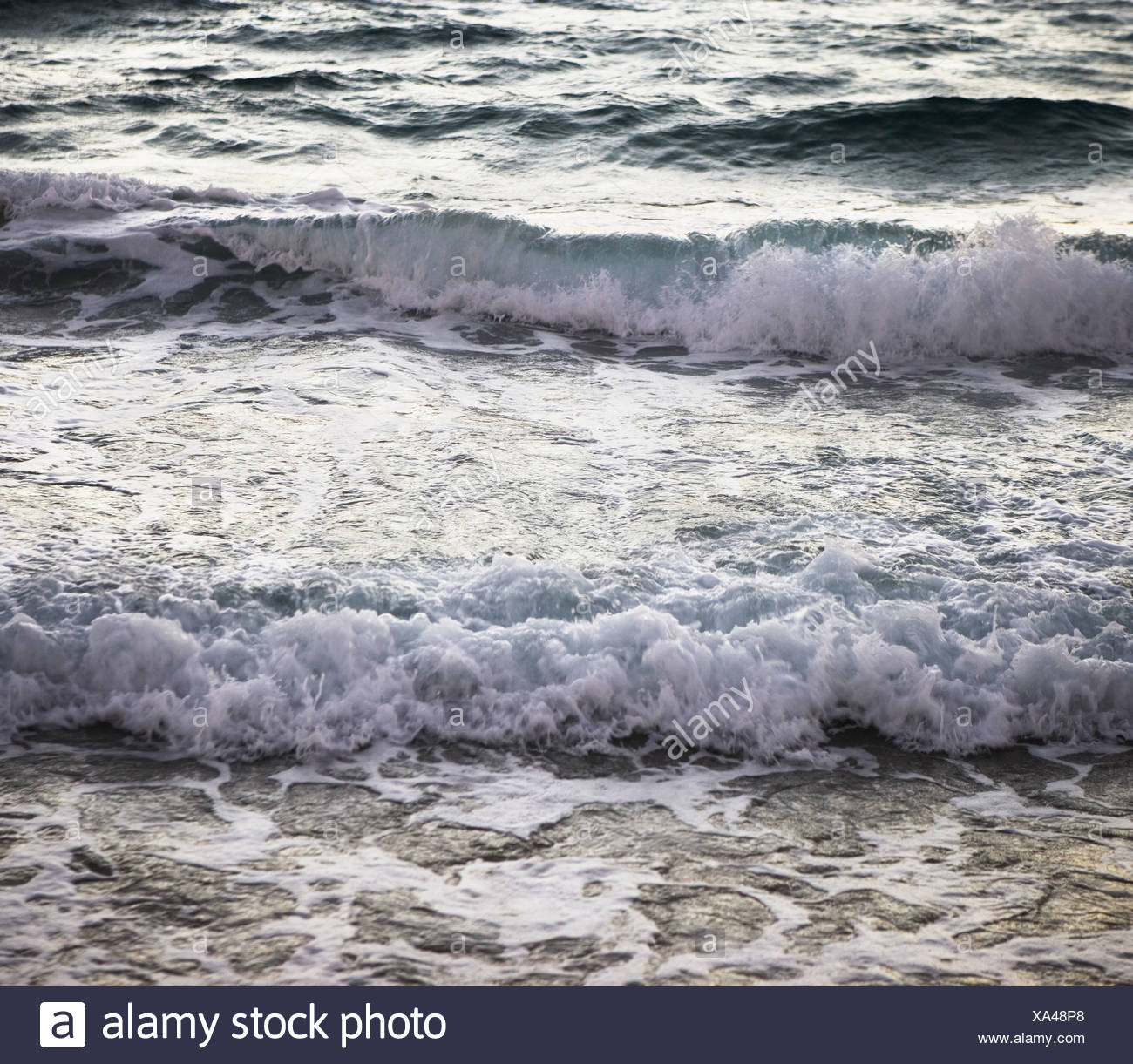 waves on the beach, erosion - Stock Image
