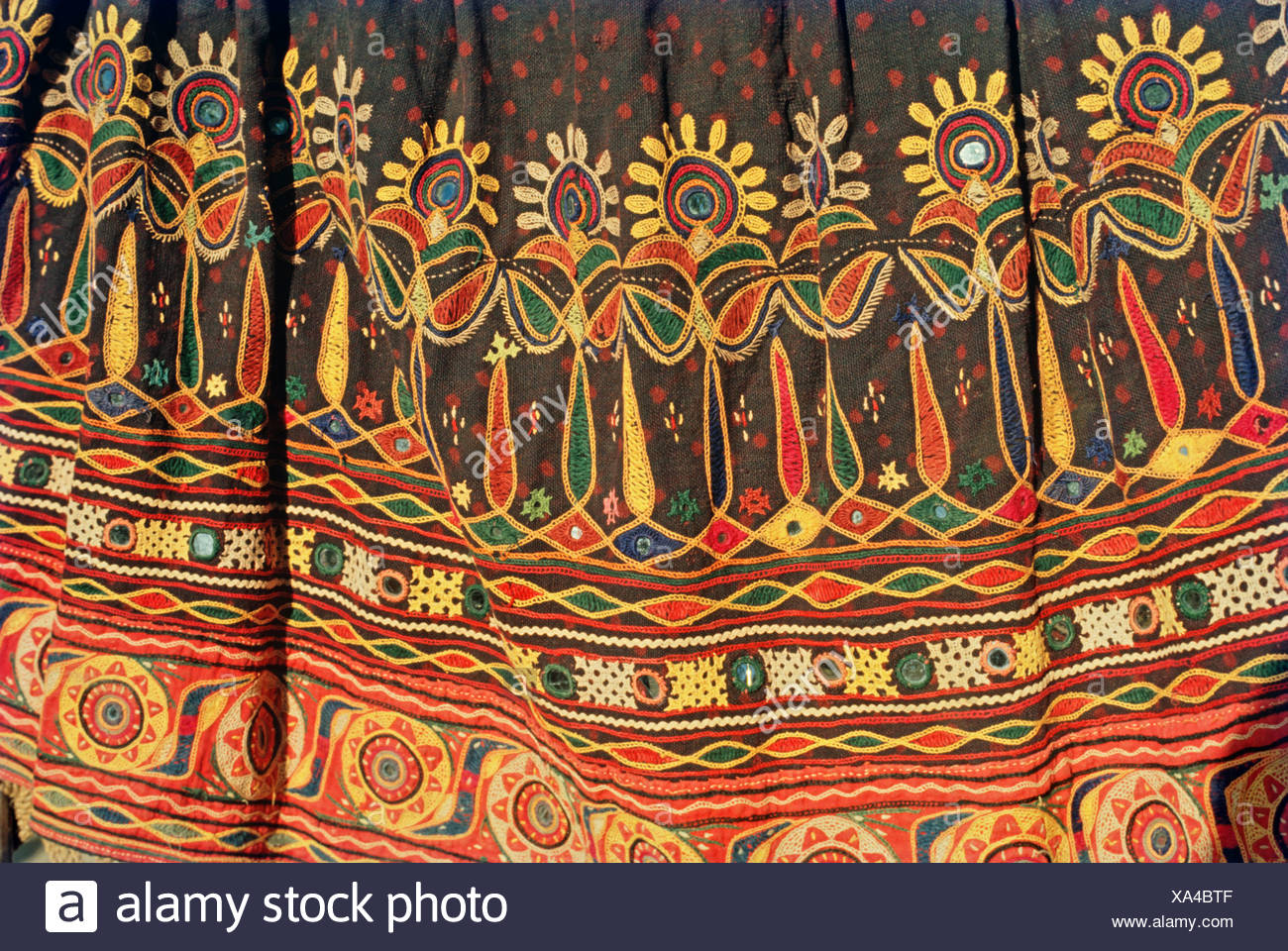 Ahir embroidery - Stock Image