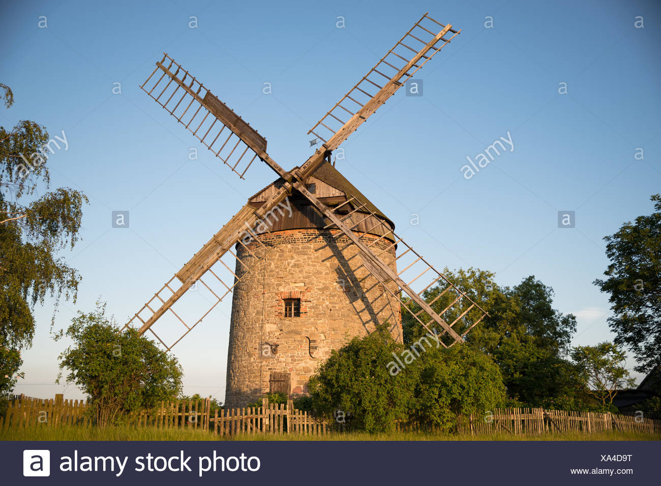 Age Grain Mill - Stock Image