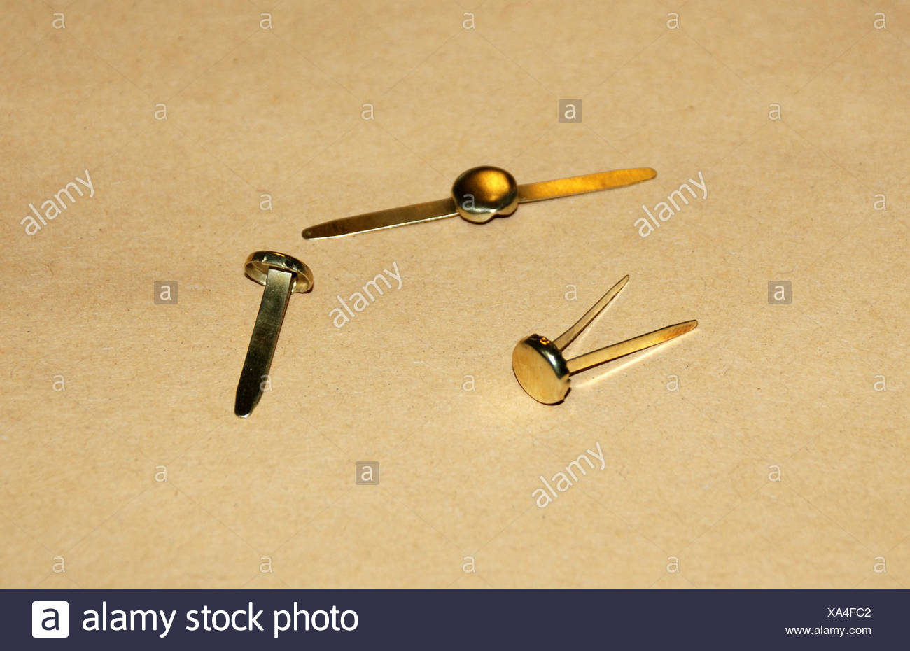 office, office supplies, paper fasteners, Additional-Rights-Clearance-Info-Not-Available - Stock Image