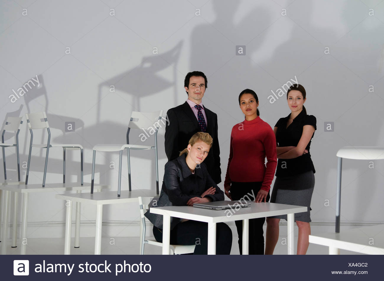 Late night at the office - Stock Image