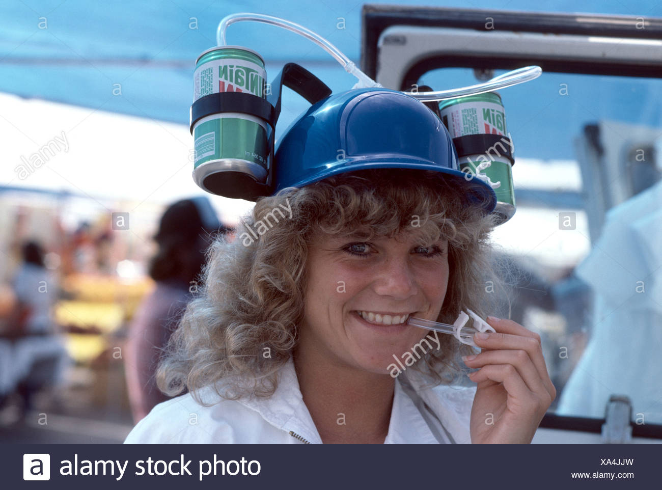 114861a04 1970's image of silly hat with soda pop connected to brim and straw ...