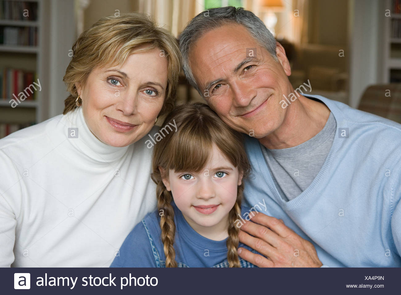 Girl and grandparents - Stock Image