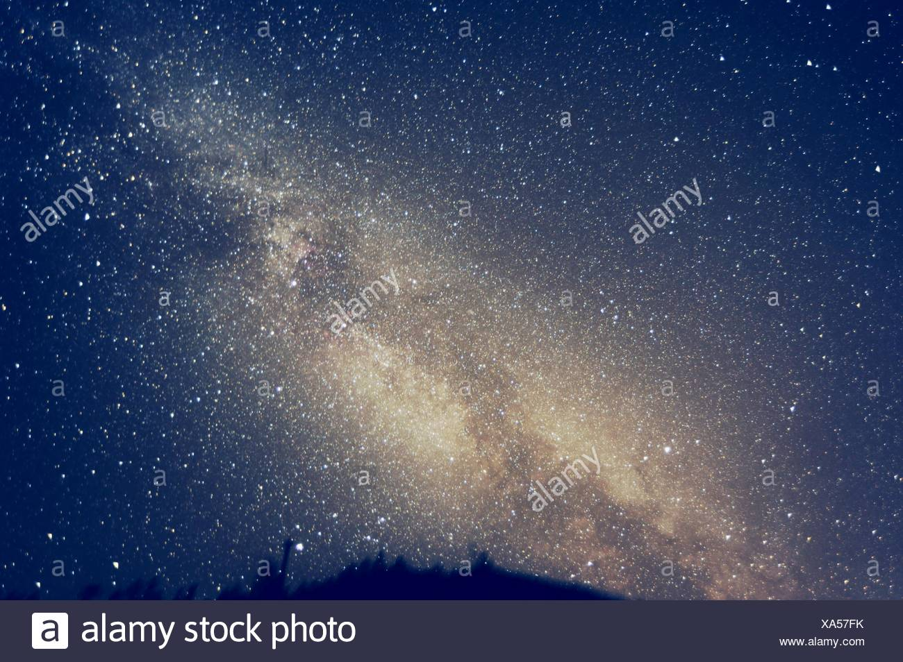 Low Angle View Of Stars In Sky - Stock Image