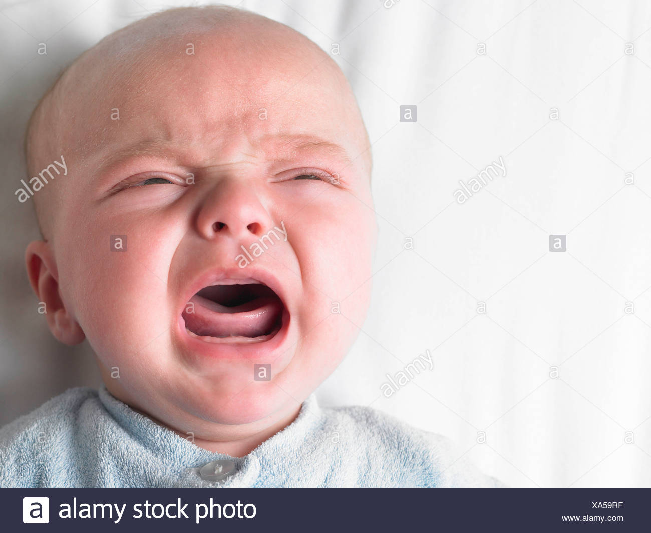 Baby-boy crying - Stock Image