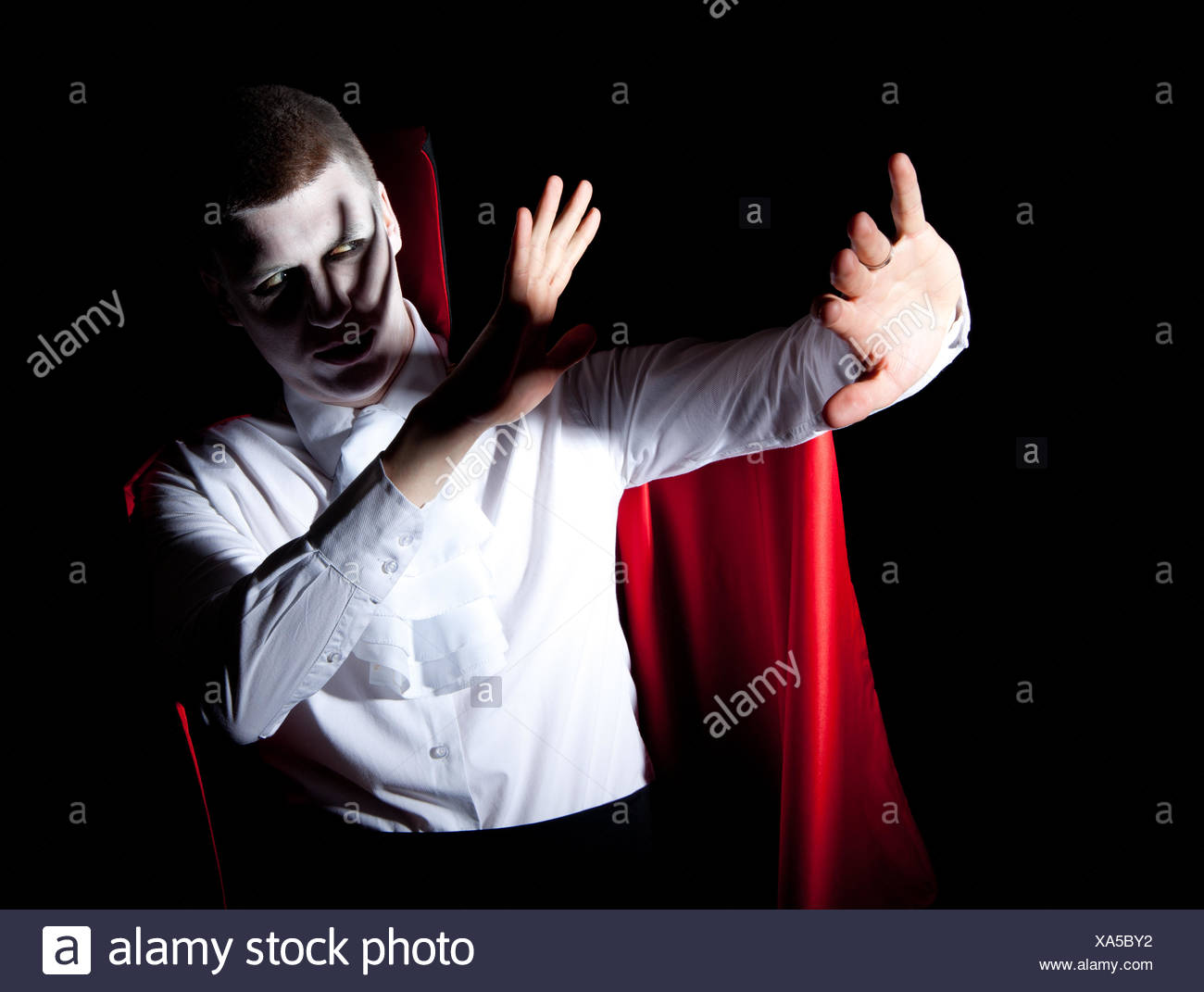 male vampire defense light Stock Photo