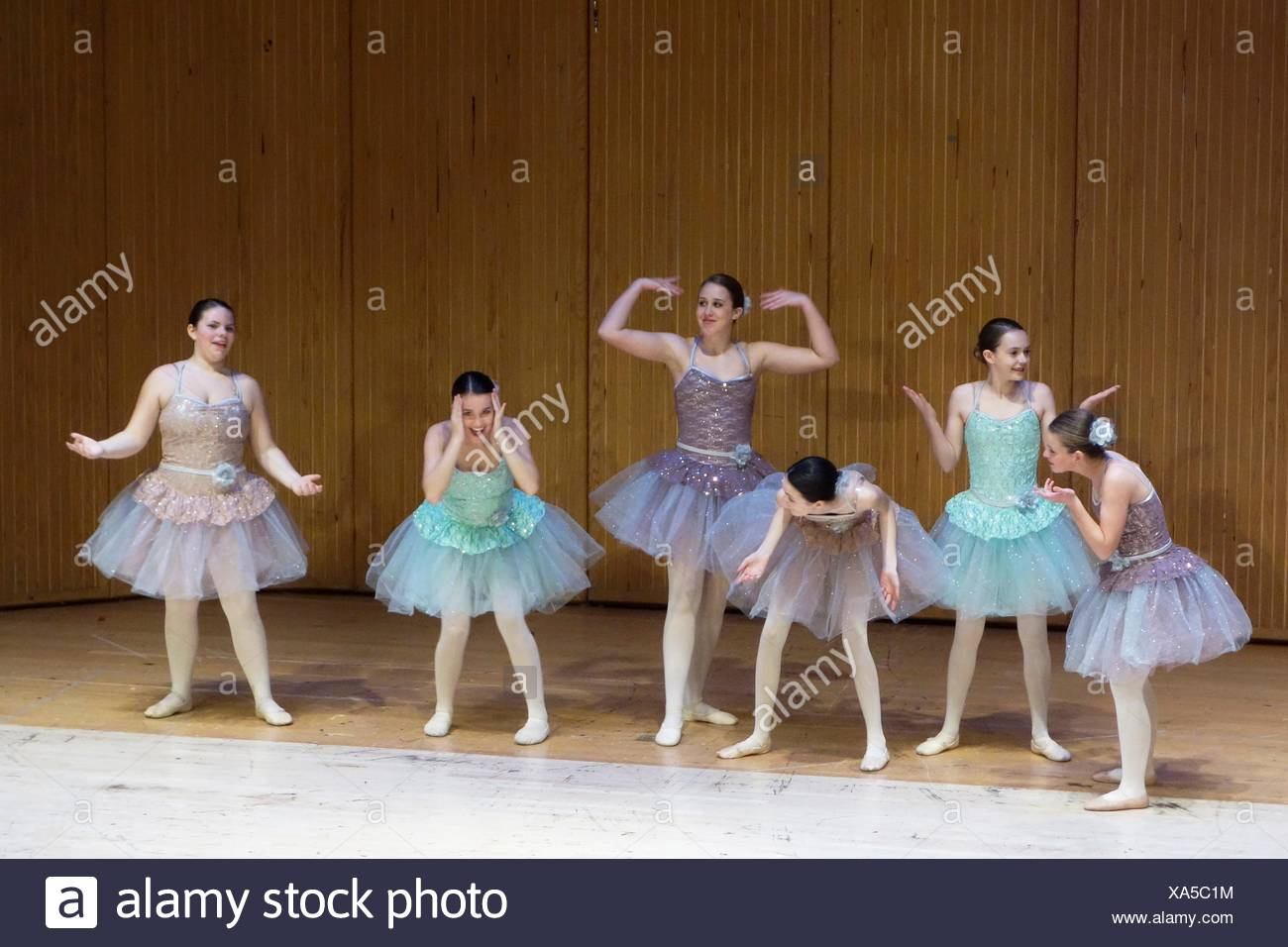 49c340bb2 Ballet Dancers in Tutus Performing on Stage, Geneseo, New York, USA ...