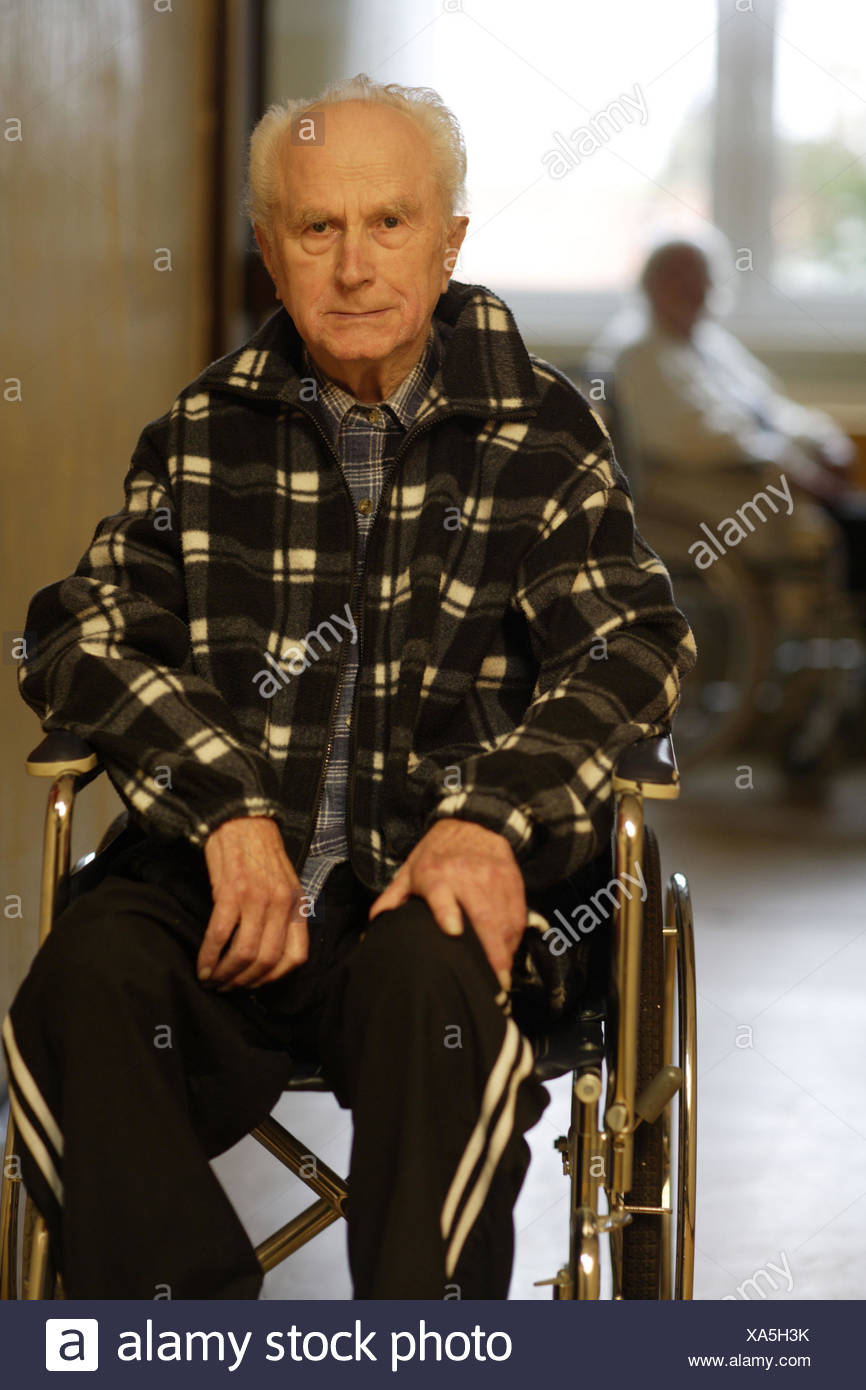 Old Man On Wheel Chair Stock Photos & Old Man On Wheel Chair Stock ...