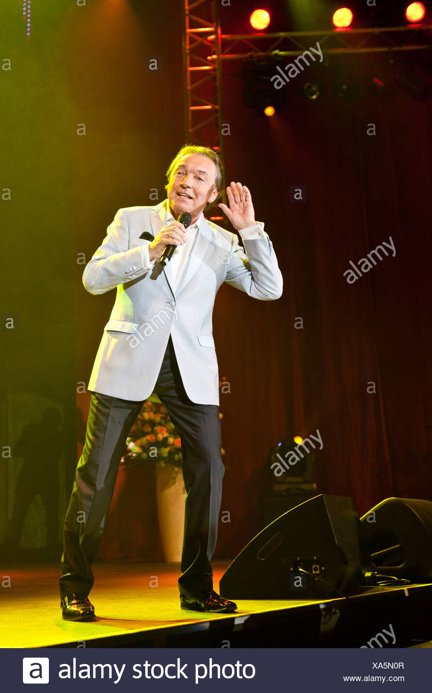 Czech pop singer Karel Gott performing live at the Schlager Nacht 2012, pop song night, in Lucerne, Switzerland, Europe - Stock Image