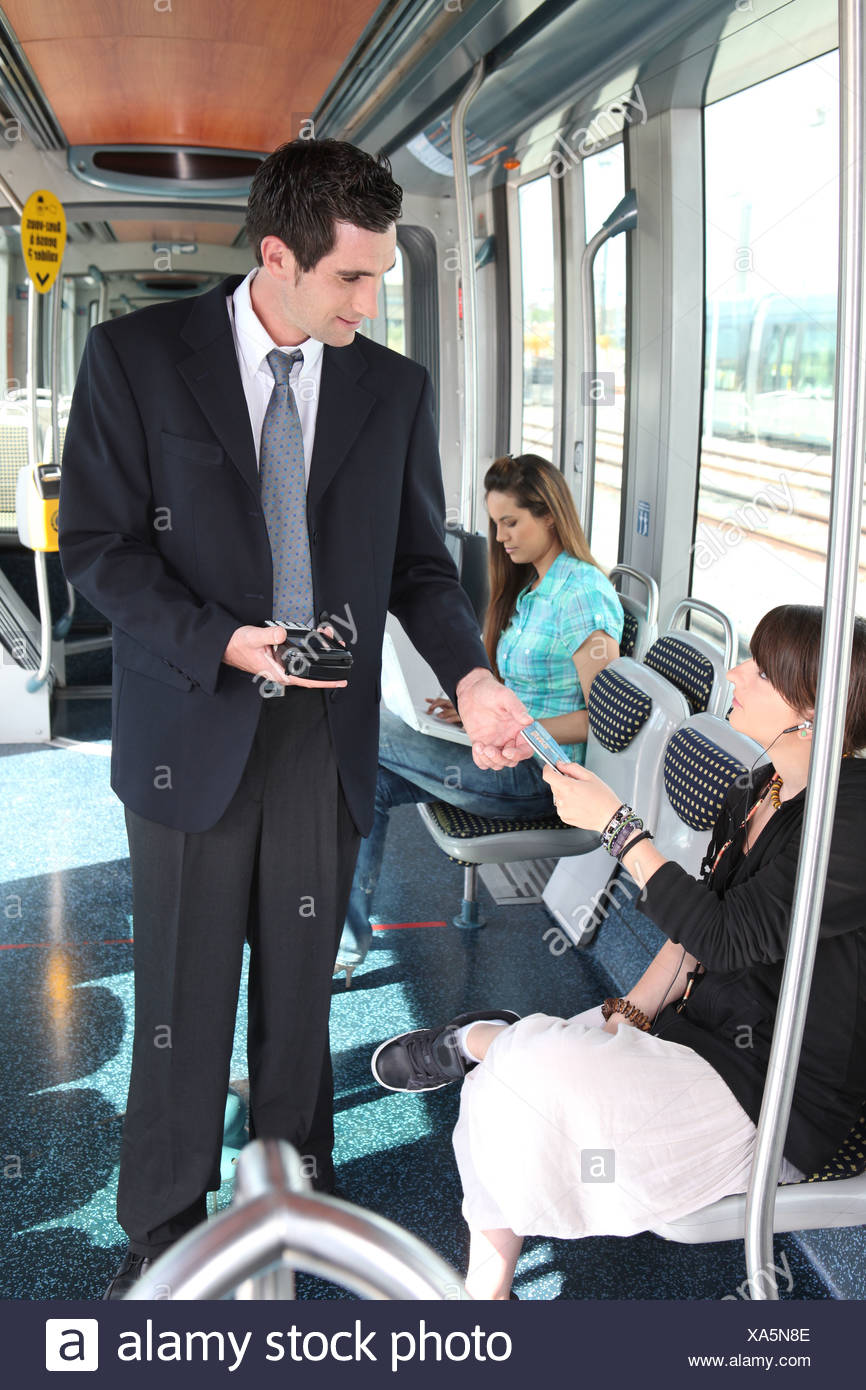Ticket Collector Stock Photos & Ticket Collector Stock