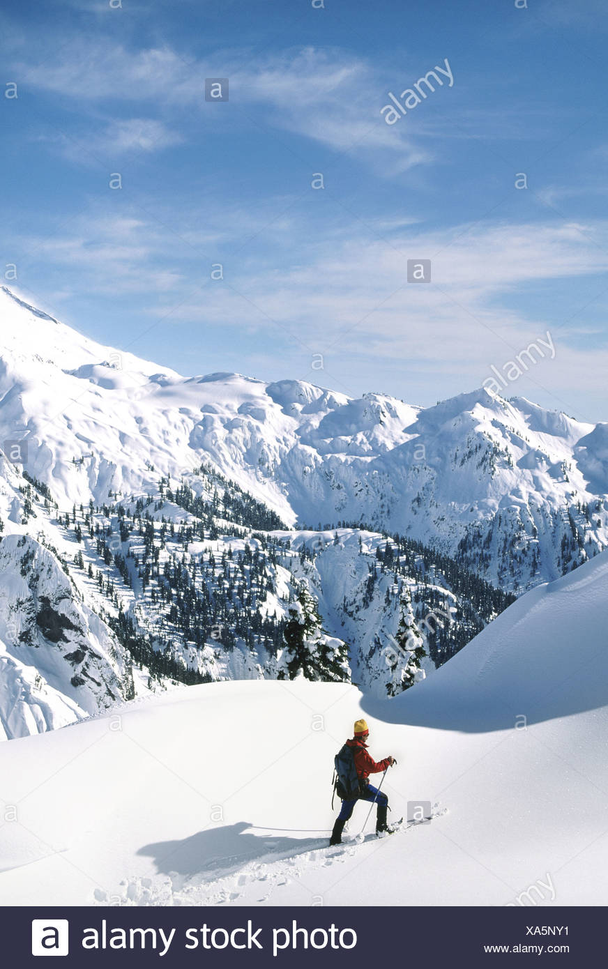 Ski touring at artist's point - Stock Image