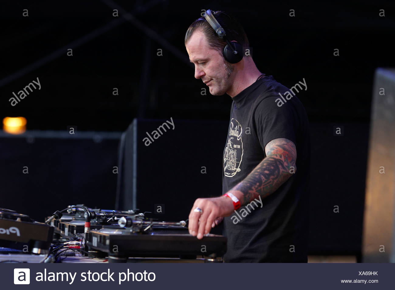 Techno Nature One Festival 2009, DJ Dag, Kastellaun, Rhineland-Palatinate, Germany, Europe Stock Photo