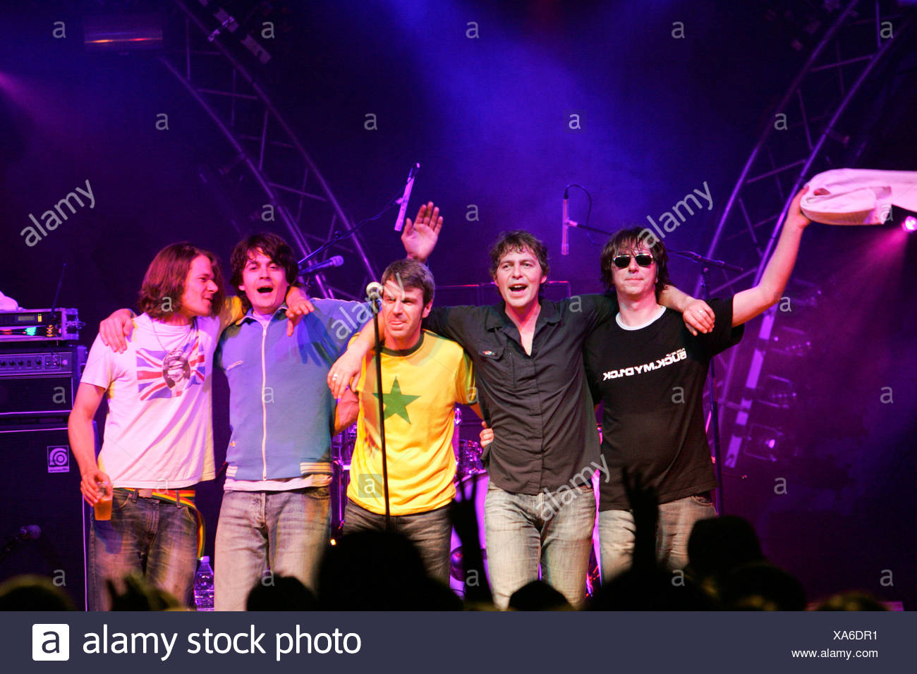 German pop group Fool's Garden performing live at Openquer in Zell, Lucerne, Switzerland Stock Photo