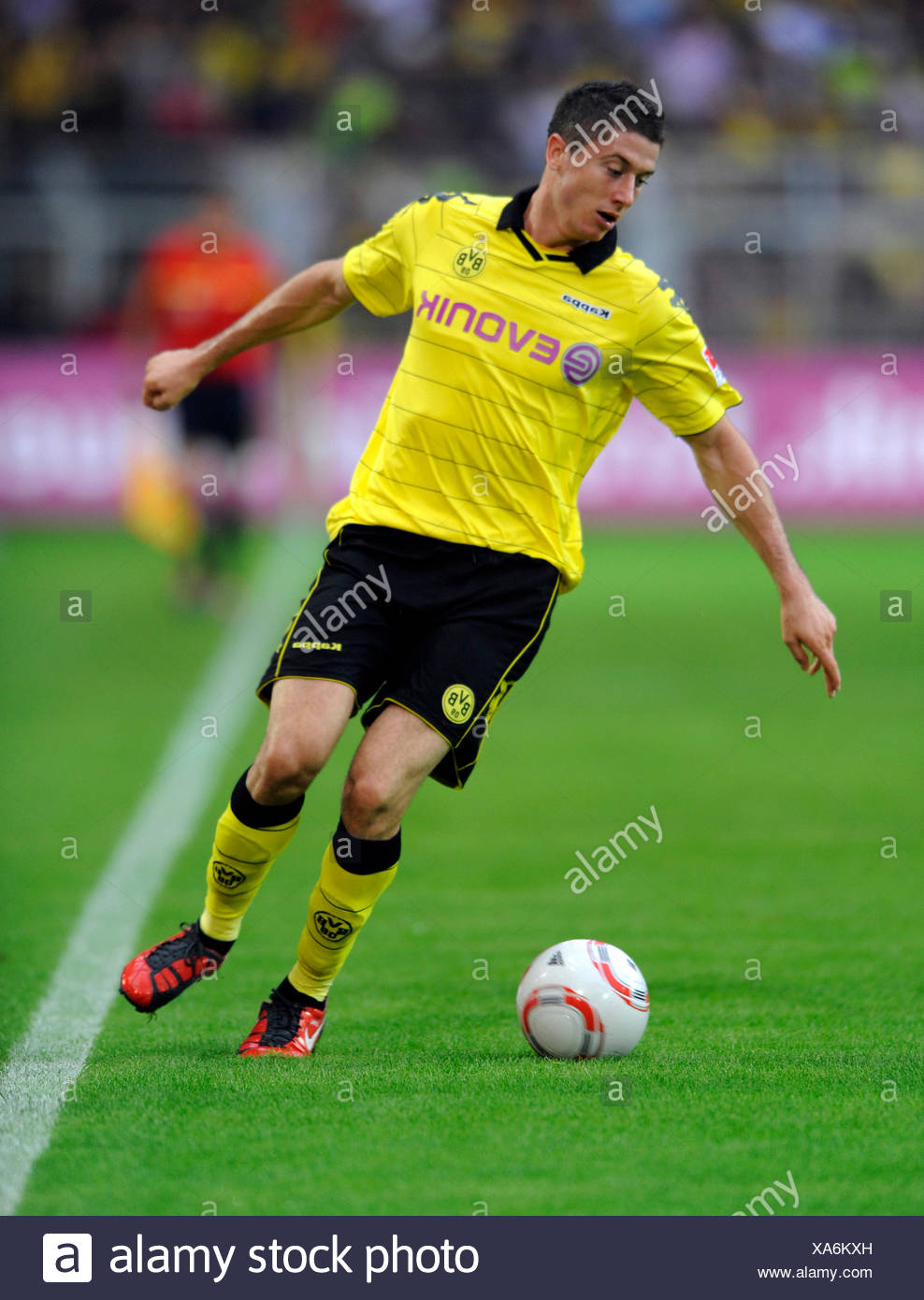 Fussball-Bundesliga, professional association football league in Germany, Season 2010-2011, 1st match of the round, Borussia - Stock Image