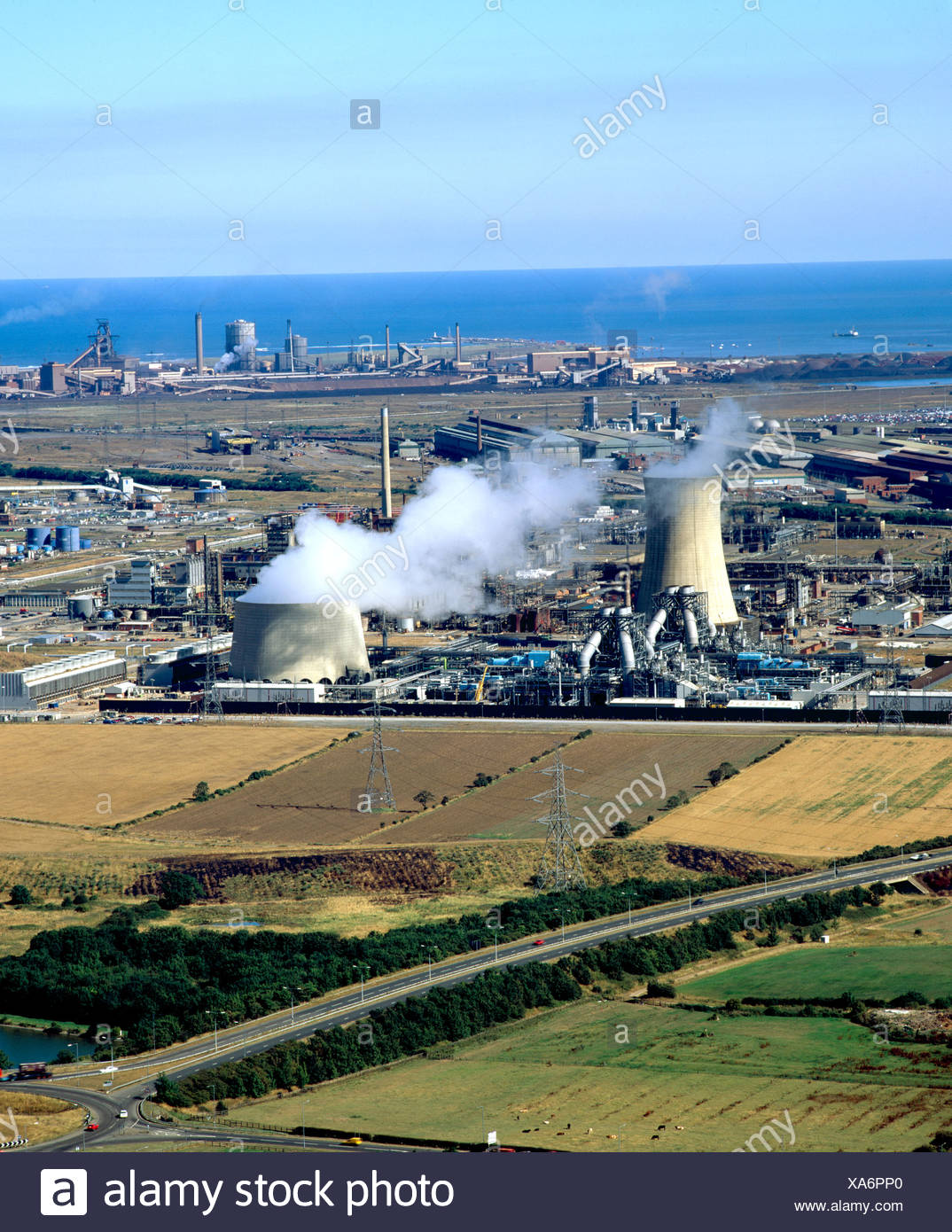 Chemical plant Teeside ICI s Wilton works Stock Photo