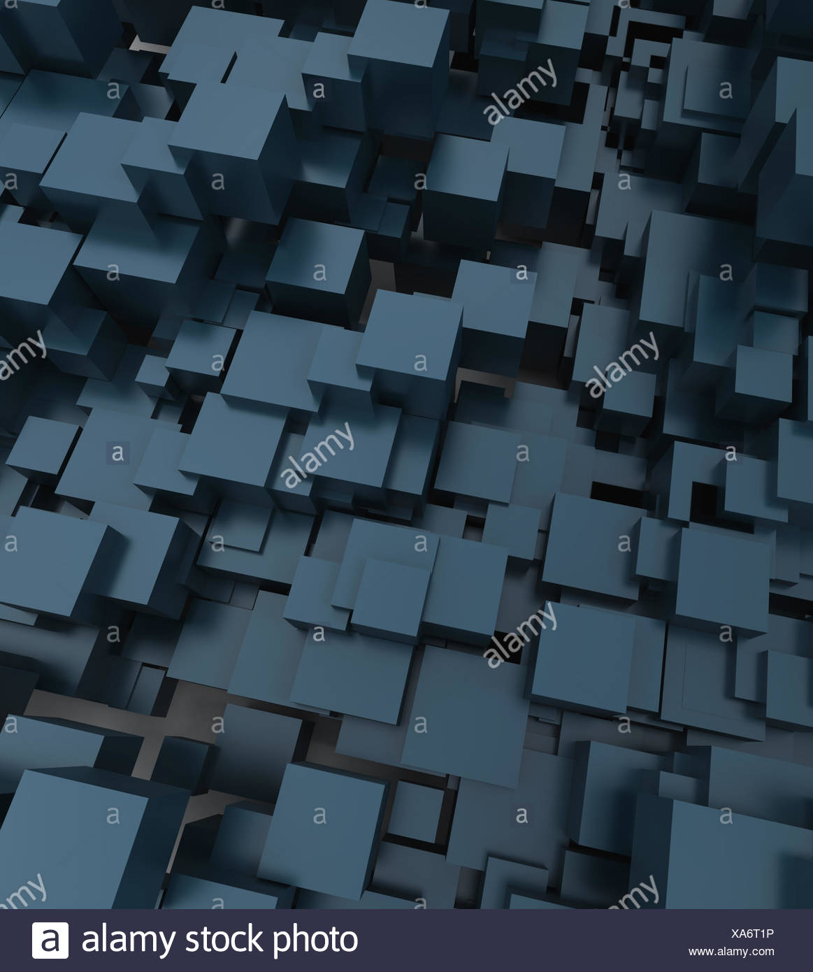 Blue Art Shape Abstract Wallpaper Pattern Cube