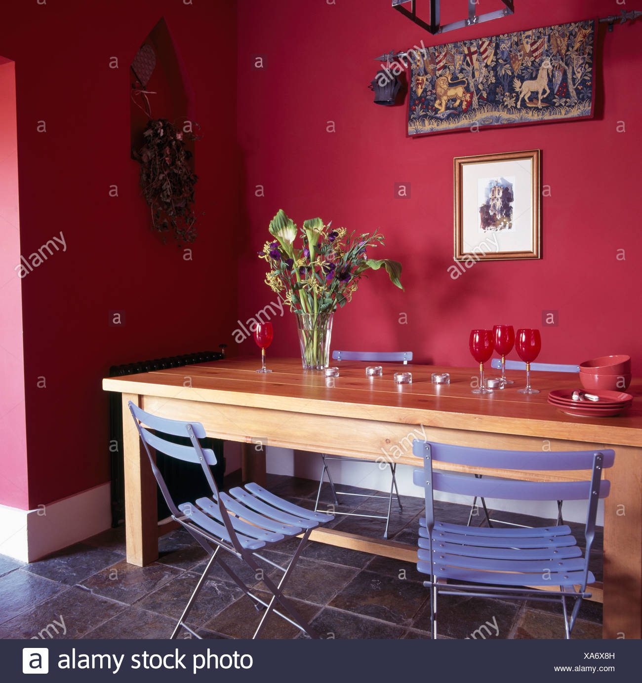 Remarkable Ikea Blue Folding Plastic Chairs At Simple Wooden Table In Squirreltailoven Fun Painted Chair Ideas Images Squirreltailovenorg